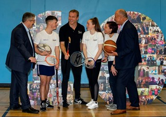 Sir Chris Hoy helps sportscotland and SAMH launch a new partnership on World Mental Health Awareness Day