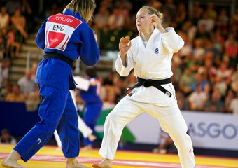 Judo athlete Sally Conway in action