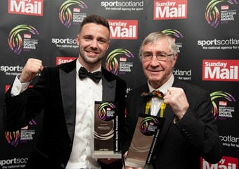 Josh Taylor and Ken Buchanan at the Scottish Sports Awards 2019
