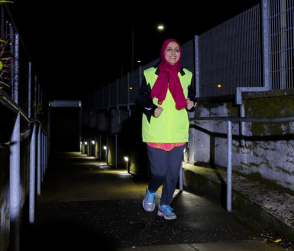 Nasreen Choudhry running with Tayside Smilers