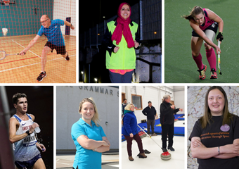 Collage of people featured in Sport For Life 2019-20