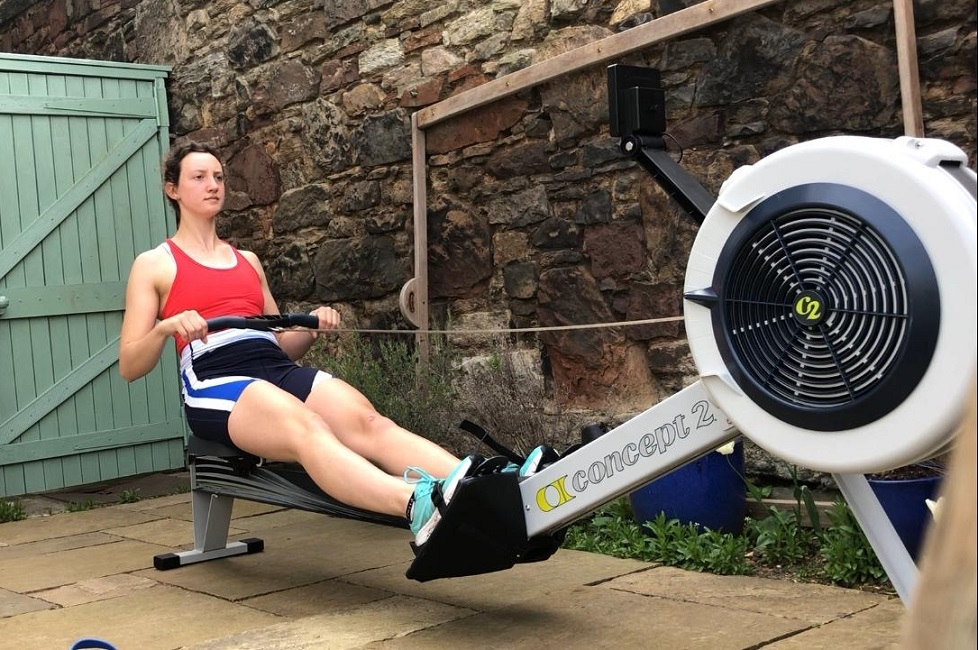 Rower training at home