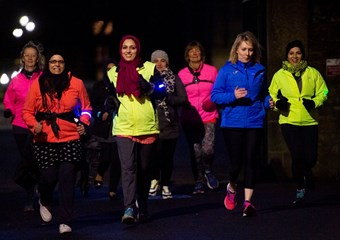 A group of female joggers in Dundee