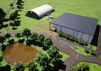 An artist's impression of the new four-court facility in Elgin at the Moray Sports Centre