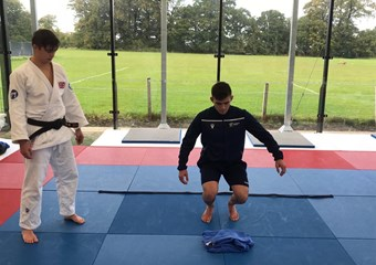 Judo training taking place
