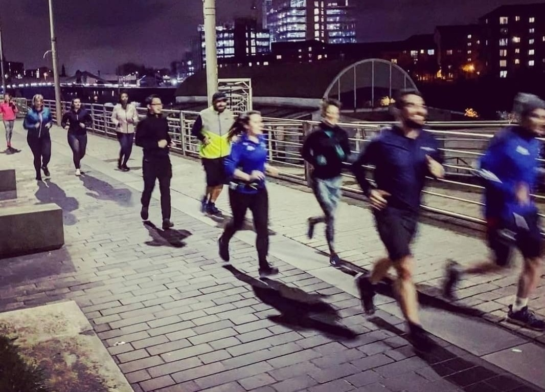 Runners in Glasgow